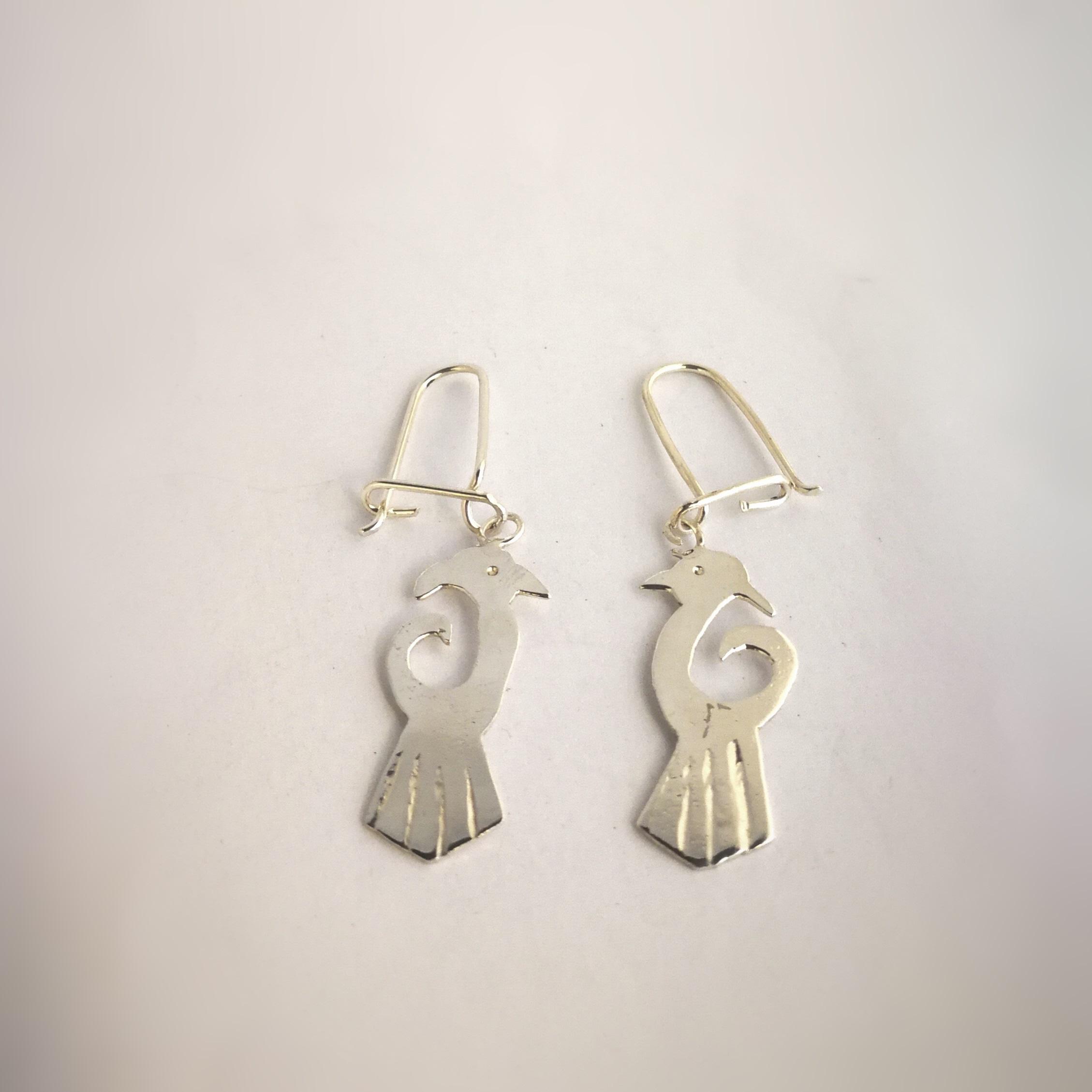 Hugin och Munin örhängen