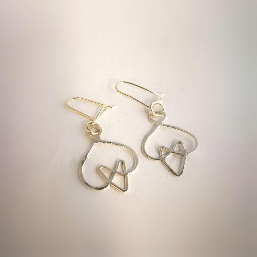 keltiska hjärtan örhängen breda
