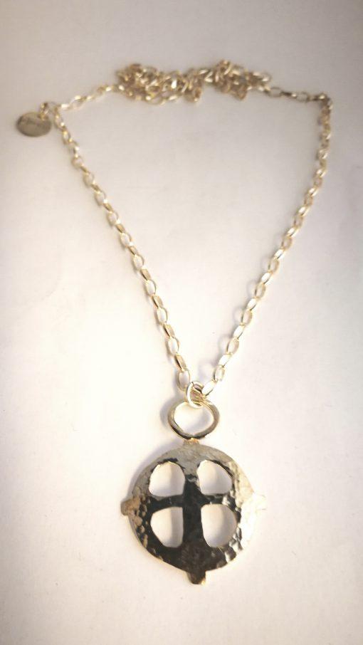 medeltida kors silver